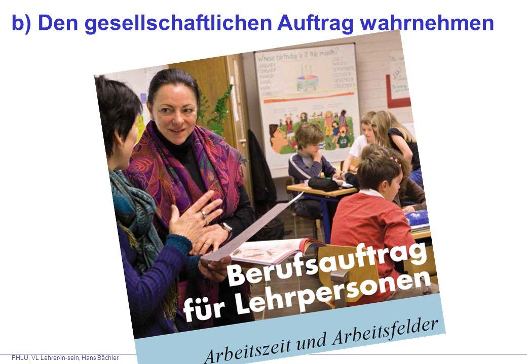 PHLU, VL Lehrer/in-sein, Hans Bächler 1.
