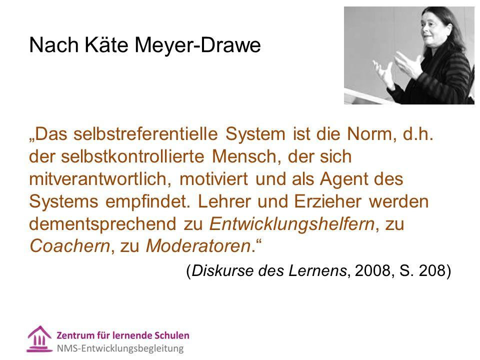 """Nach Käte Meyer-Drawe """"Das selbstreferentielle System ist die Norm, d.h."""