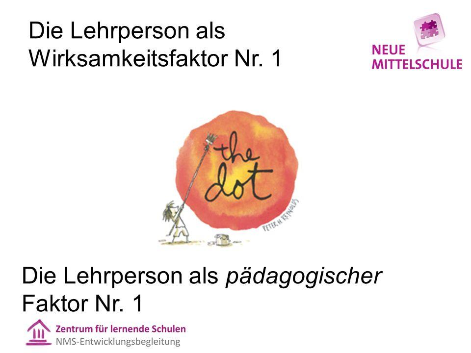 Die Lehrperson als Wirksamkeitsfaktor Nr. 1 Die Lehrperson als pädagogischer Faktor Nr. 1