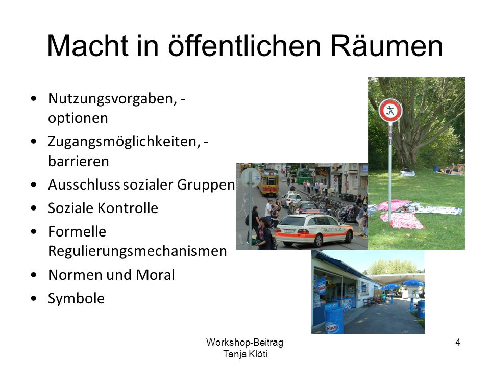 Jugendliche Aneignung normativer Settings Jugendliche Aneignung Normatives Setting Workshop-Beitrag Tanja Klöti 5