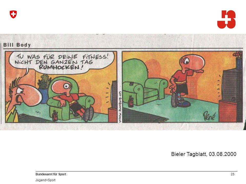 25 Bundesamt für Sport Jugend+Sport Bieler Tagblatt, 03.08.2000