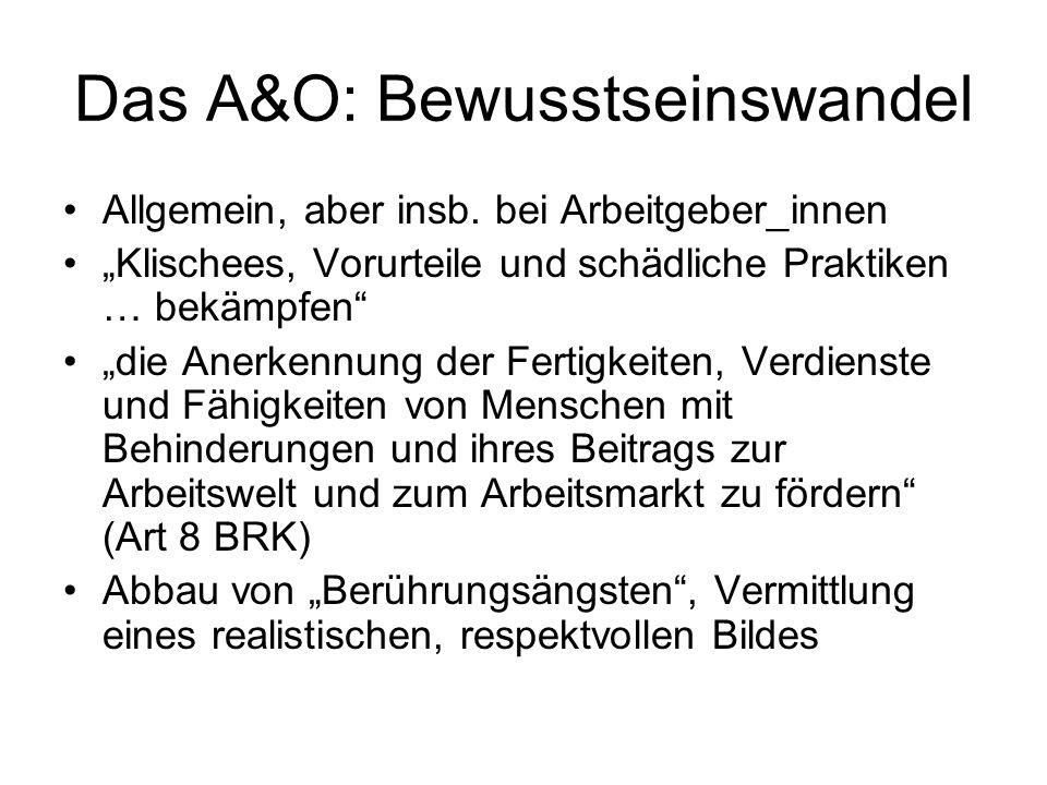 Das A&O: Bewusstseinswandel Allgemein, aber insb.
