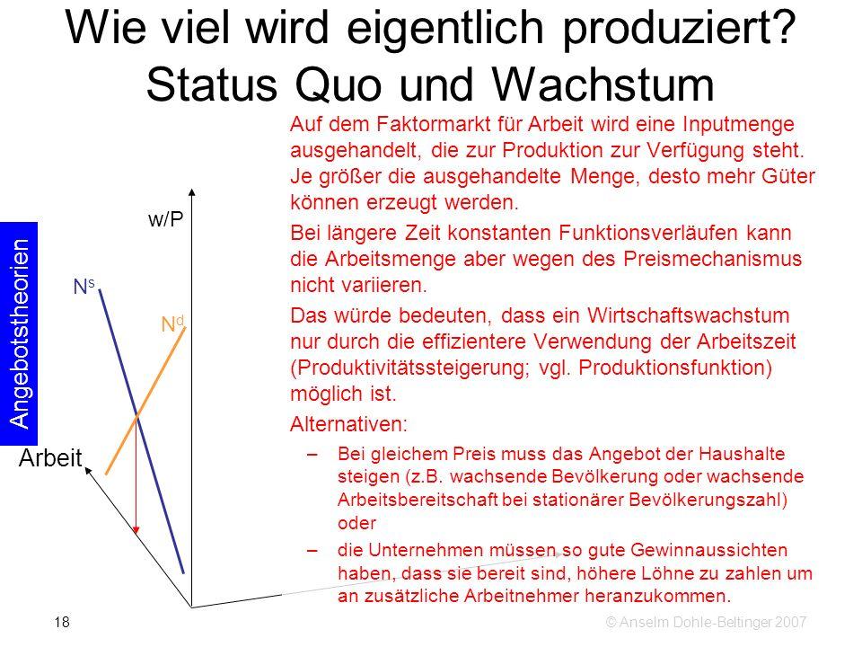 © Anselm Dohle-Beltinger 200718 Wie viel wird eigentlich produziert.