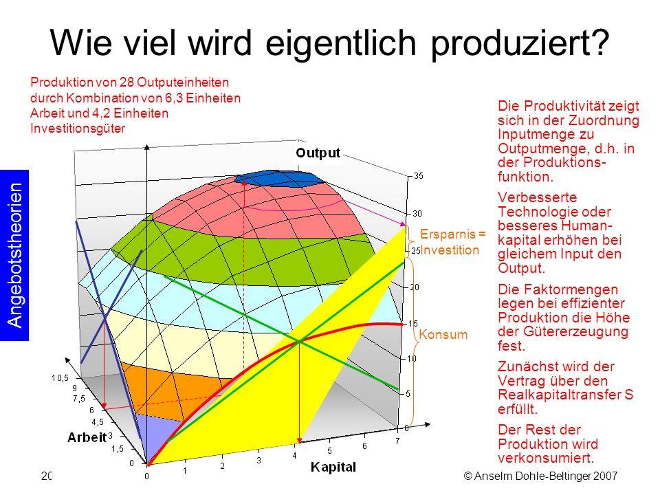© Anselm Dohle-Beltinger 200720 Wie viel wird eigentlich produziert.