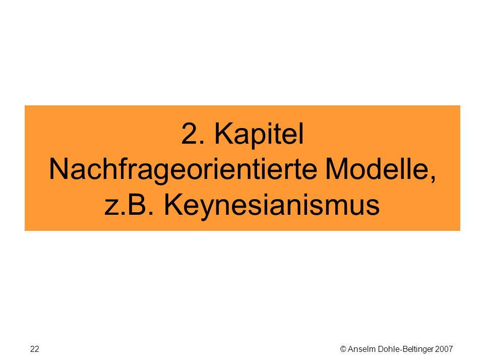 © Anselm Dohle-Beltinger 200722 2. Kapitel Nachfrageorientierte Modelle, z.B. Keynesianismus