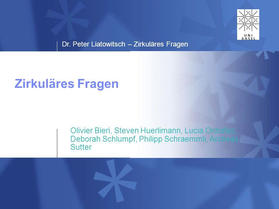 Dr.Peter Liatowitsch – Zirkuläres Fragen 1204.05.2009 Intervention oder Konversation.