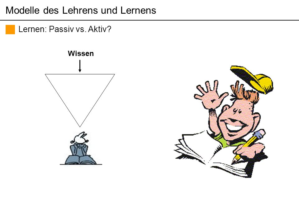 Themen der pädagogisch psychologischen Diagnostik (Sommersemester 2006) Martin Brunner Lernen: Passiv vs.