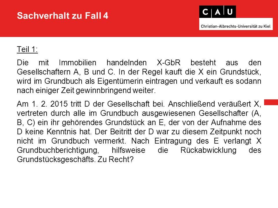 Lösung zu Teil 3 - nach § 50 I ZPO kann sie folglich verklagt werden - der Sitz von A ist in Kiel - somit liegt der allgemeine Gerichtsstand der A also in Kiel, §§ 17 I 1, 2 ZPO 2.