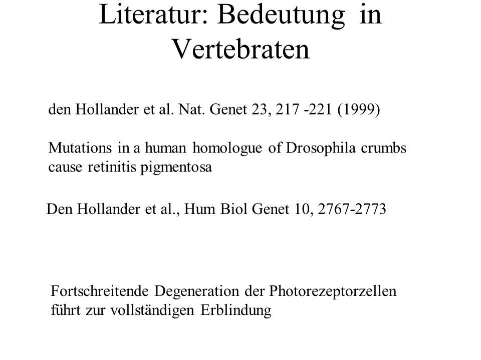 Literatur: Bedeutung in Vertebraten den Hollander et al.