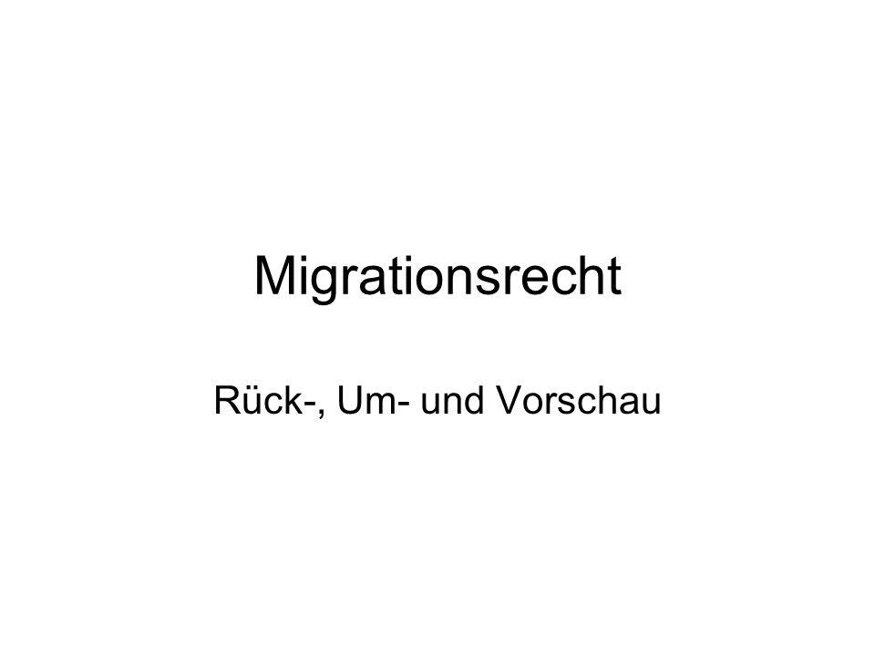 Migrationsrecht Rück-, Um- und Vorschau