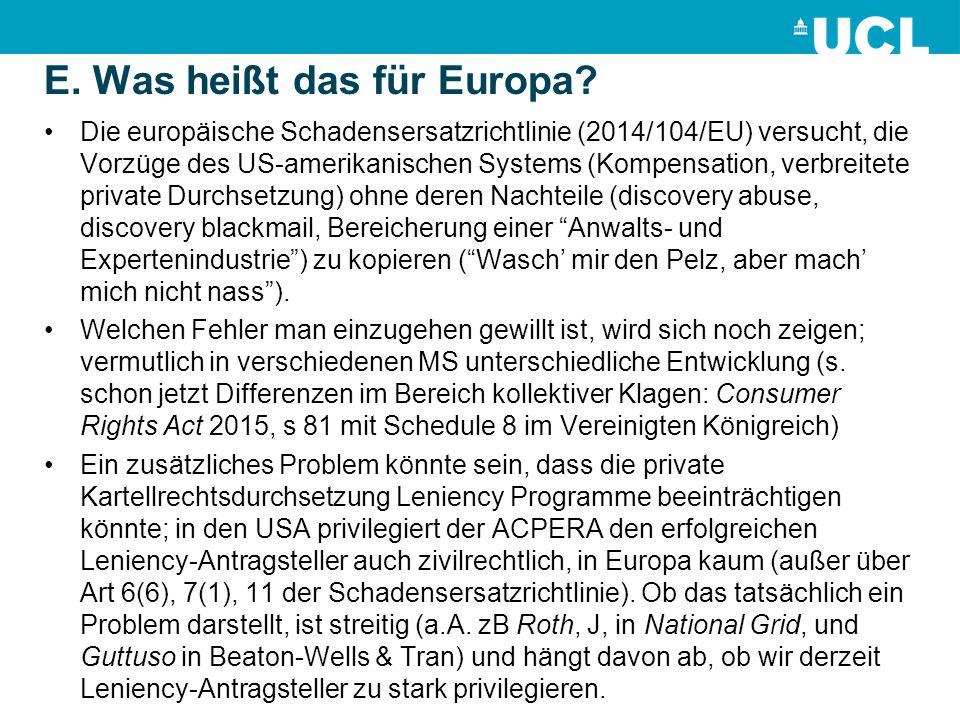 E. Was heißt das für Europa.