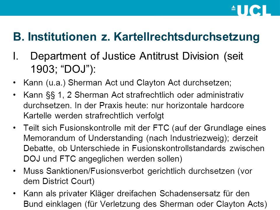 B.Institutionen z.