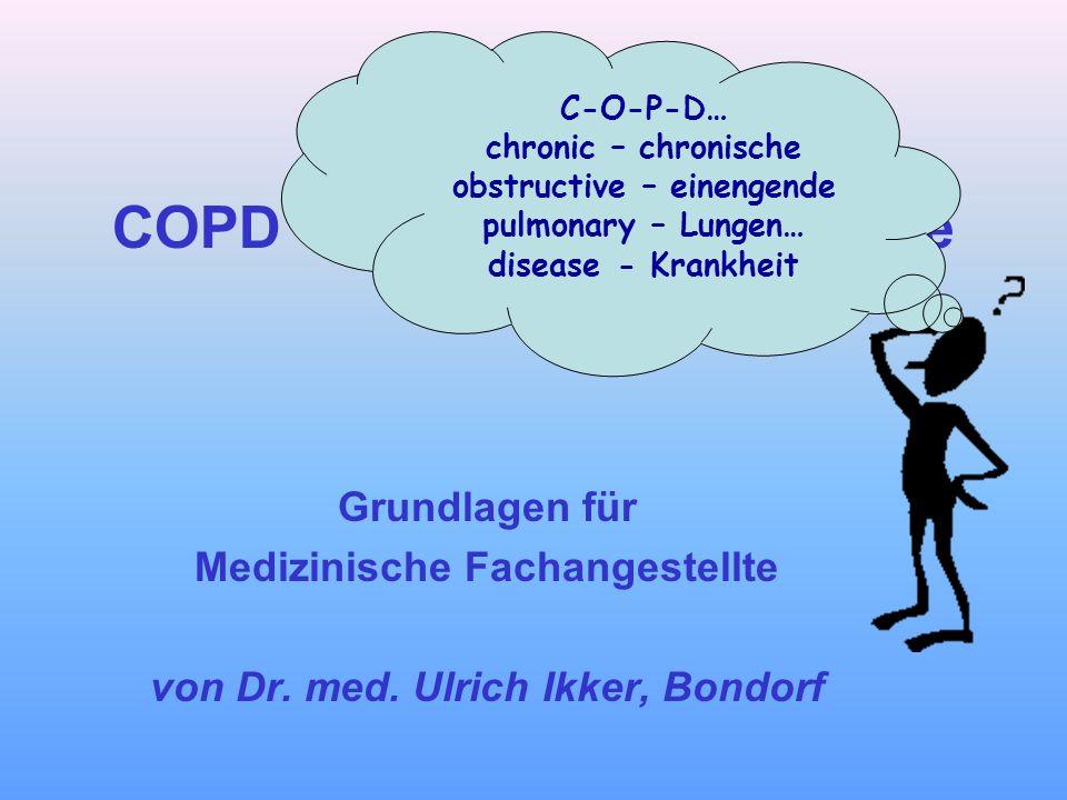 COPD und Asthma bronchiale Grundlagen für Medizinische Fachangestellte von Dr. med. Ulrich Ikker, Bondorf C-O-P-D… chronic – chronische obstructive –