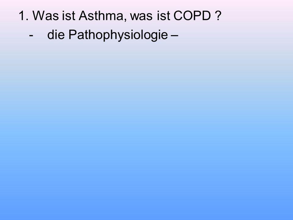 1. Was ist Asthma, was ist COPD ? -die Pathophysiologie –