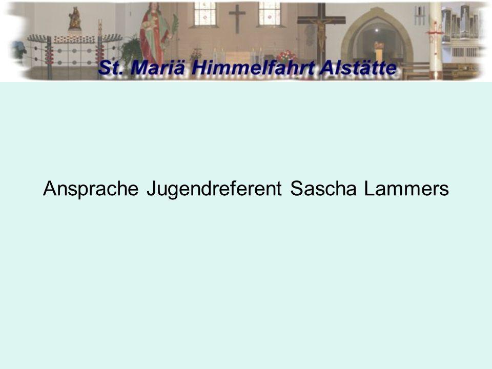 Ansprache Jugendreferent Sascha Lammers