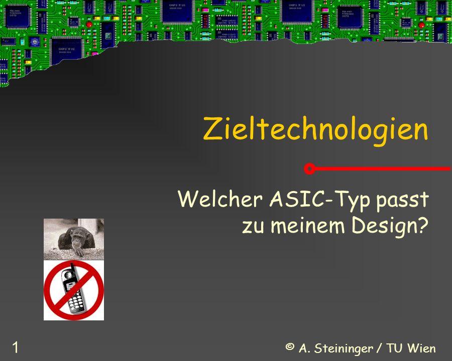 © A. Steininger / TU Wien 1 Zieltechnologien Welcher ASIC-Typ passt zu meinem Design