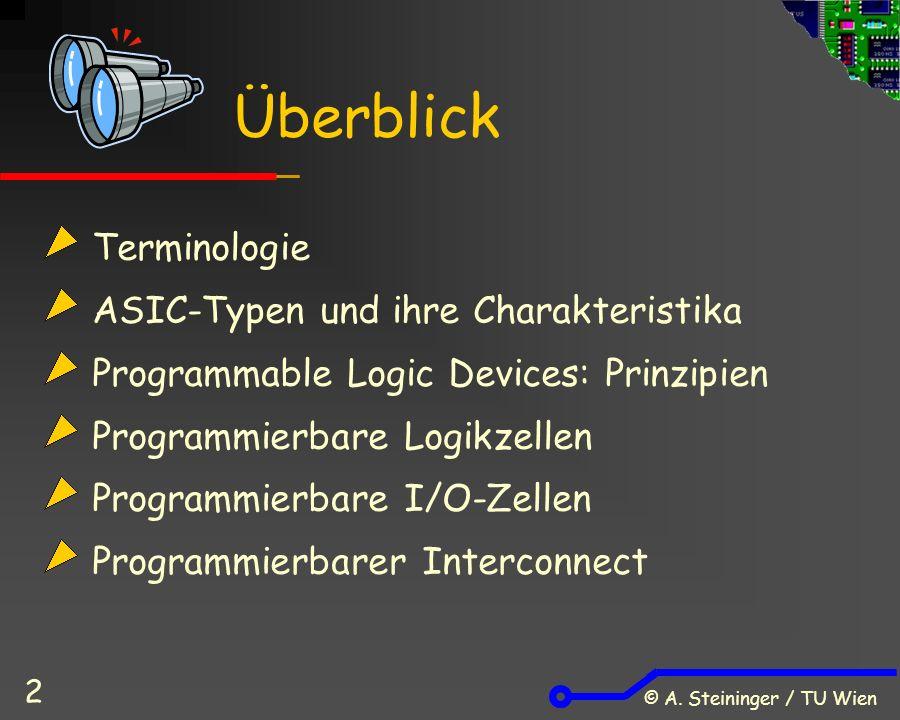 © A.Steininger / TU Wien 63 Xilinx XC9500 Macrocell AND-Matrix OR FF Progr.