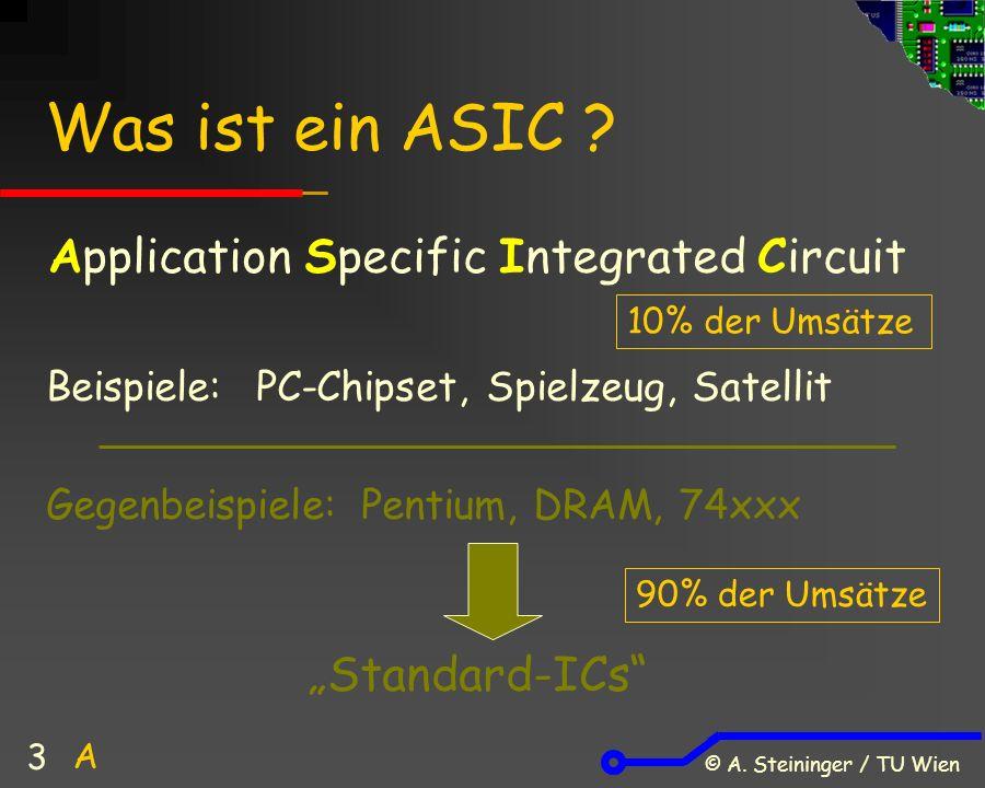 © A. Steininger / TU Wien 3 Was ist ein ASIC .