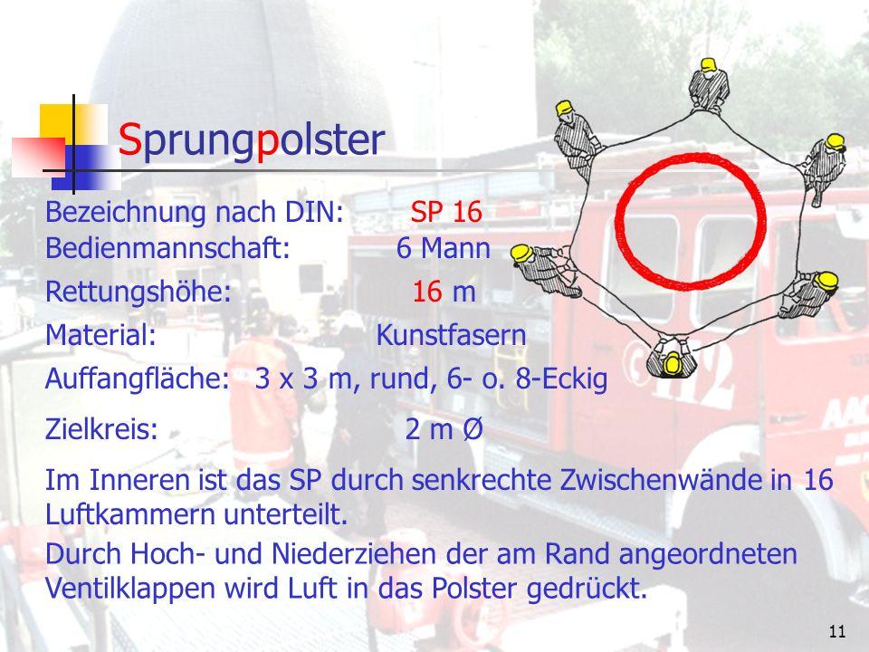 10 Sprungtuch Bezeichnung nach DIN: ST 8 - S & ST 8 - PES Bedienmannschaft:min.