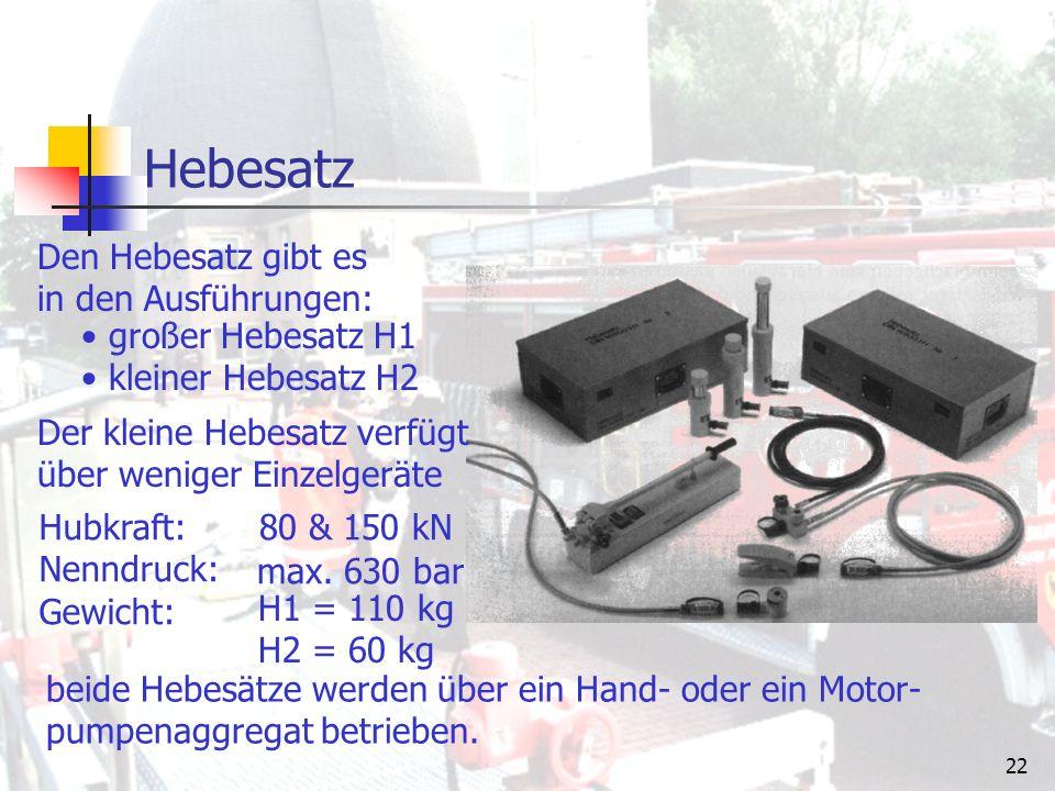 """21 Hydraulikheber Hebesatz (H1 & H2) Hydraulikwinden Rettungszylinder Es gibt folgende Arten von Hydraulikhebern: """"Hydraulikheber werden zur Erzeugung von Hebekräften benötigt."""