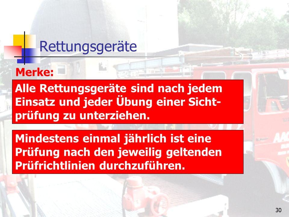 29 Ab- und Aufseilgeräte (Rollgliss) Die Bedienung oder Sicherung zu rettender oder arbeitender Personen kann von einer Person durchgeführt werden.