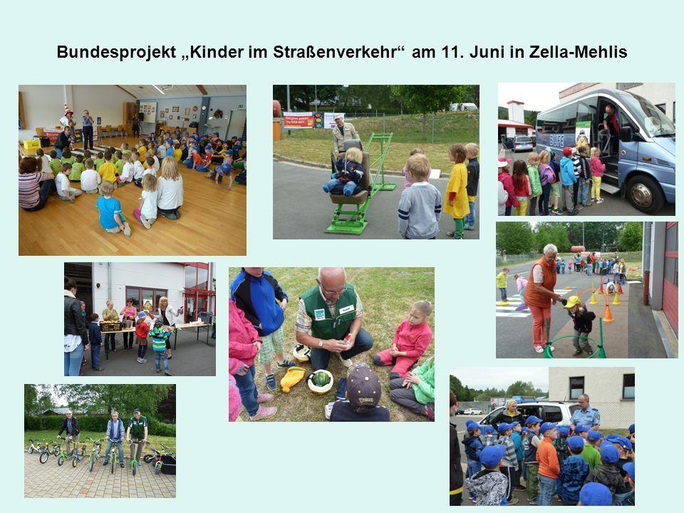 """Bundesprojekt """"Kinder im Straßenverkehr"""" am 11. Juni in Zella-Mehlis"""