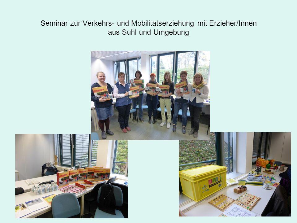 Seminar zur Verkehrs- und Mobilitätserziehung mit Erzieher/Innen aus Suhl und Umgebung