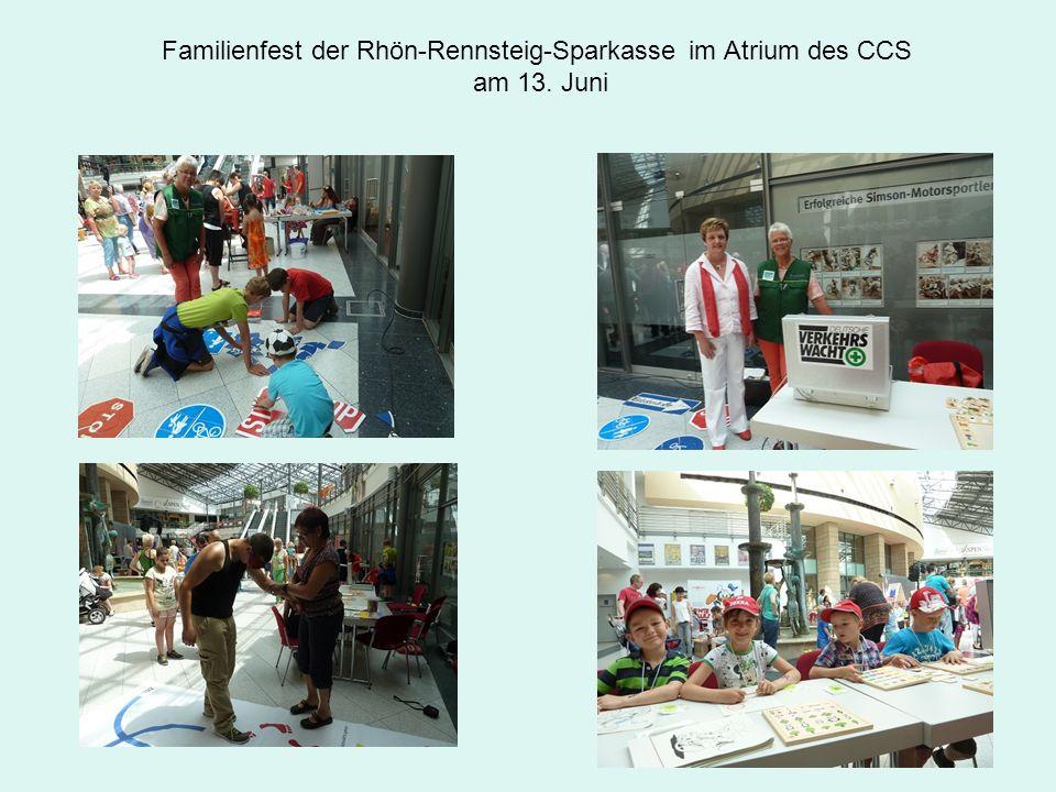 Familienfest der Rhön-Rennsteig-Sparkasse im Atrium des CCS am 13. Juni