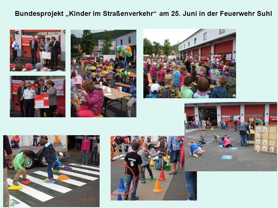 """Bundesprojekt """"Kinder im Straßenverkehr"""" am 25. Juni in der Feuerwehr Suhl"""