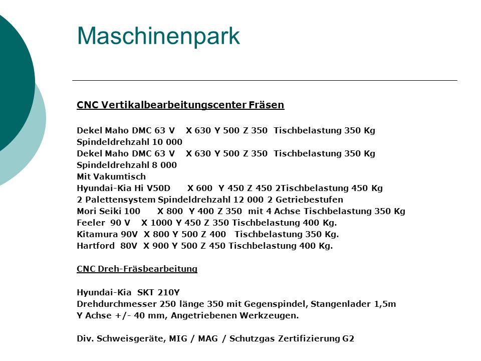Maschinenpark CNC Vertikalbearbeitungscenter Fräsen Dekel Maho DMC 63 V X 630 Y 500 Z 350 Tischbelastung 350 Kg Spindeldrehzahl 10 000 Dekel Maho DMC
