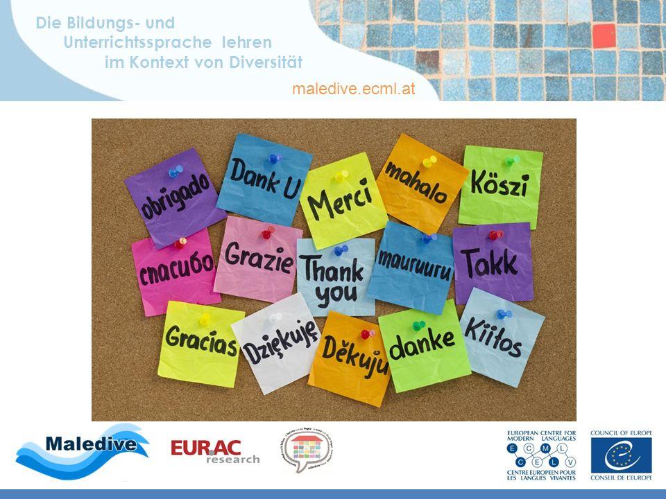 Die Bildungs- und Unterrichtssprache lehren im Kontext von Diversität maledive.ecml.at