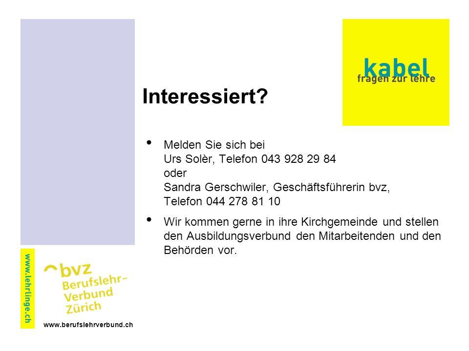 www.berufslehrverbund.ch Interessiert.