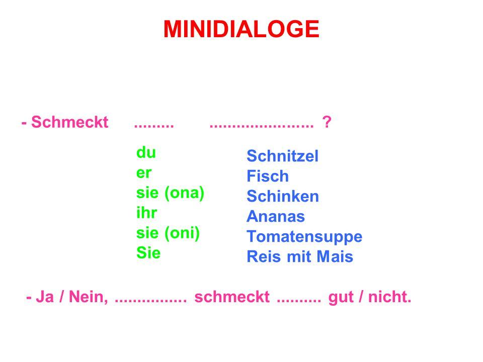 MINIDIALOGE - Schmeckt................................