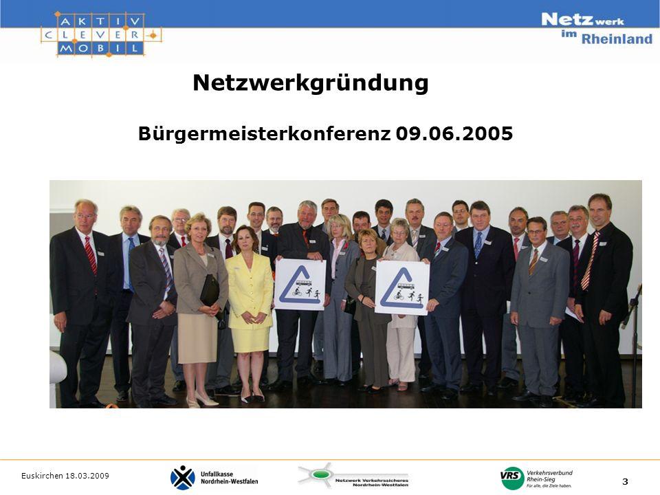 3 Bürgermeisterkonferenz 09.06.2005 Netzwerkgründung