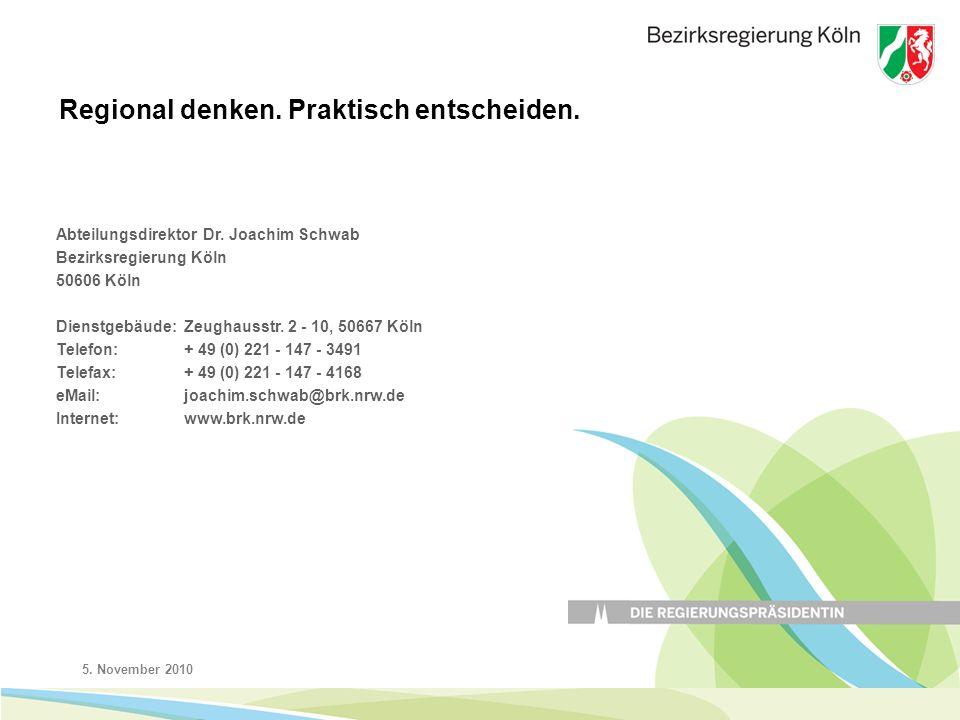 5. November 201013 Abteilungsdirektor Dr.