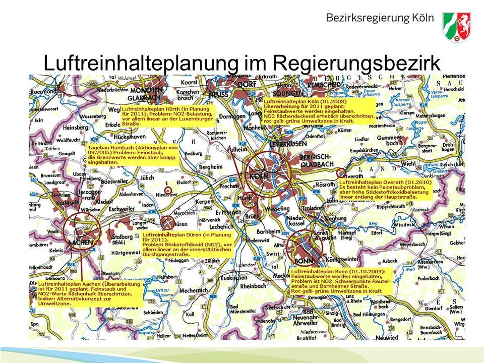 5. November 20103 Luftreinhalteplanung im Regierungsbezirk