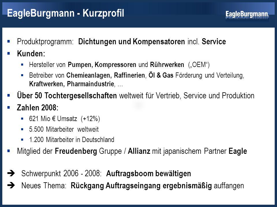 """ Produktprogramm: Dichtungen und Kompensatoren incl. Service  Kunden:  Hersteller von Pumpen, Kompressoren und Rührwerken (""""OEM"""")  Betreiber von C"""