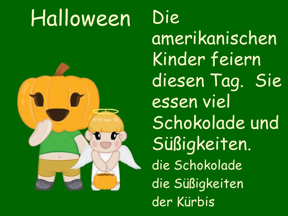 Halloween Die amerikanischen Kinder feiern diesen Tag.