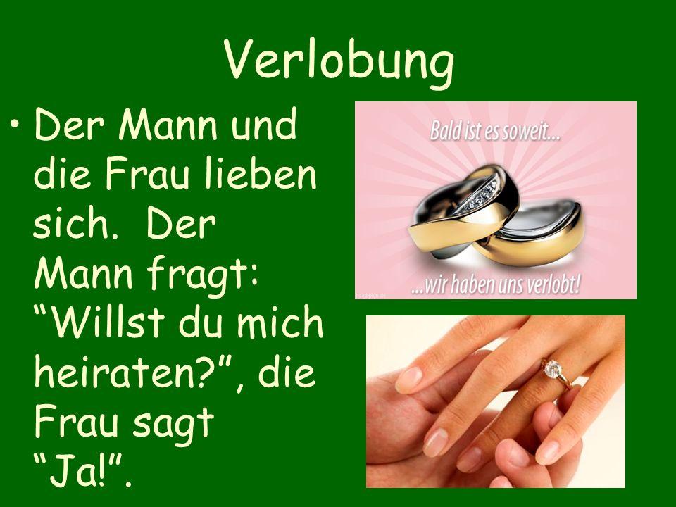 Verlobung Der Mann und die Frau lieben sich.
