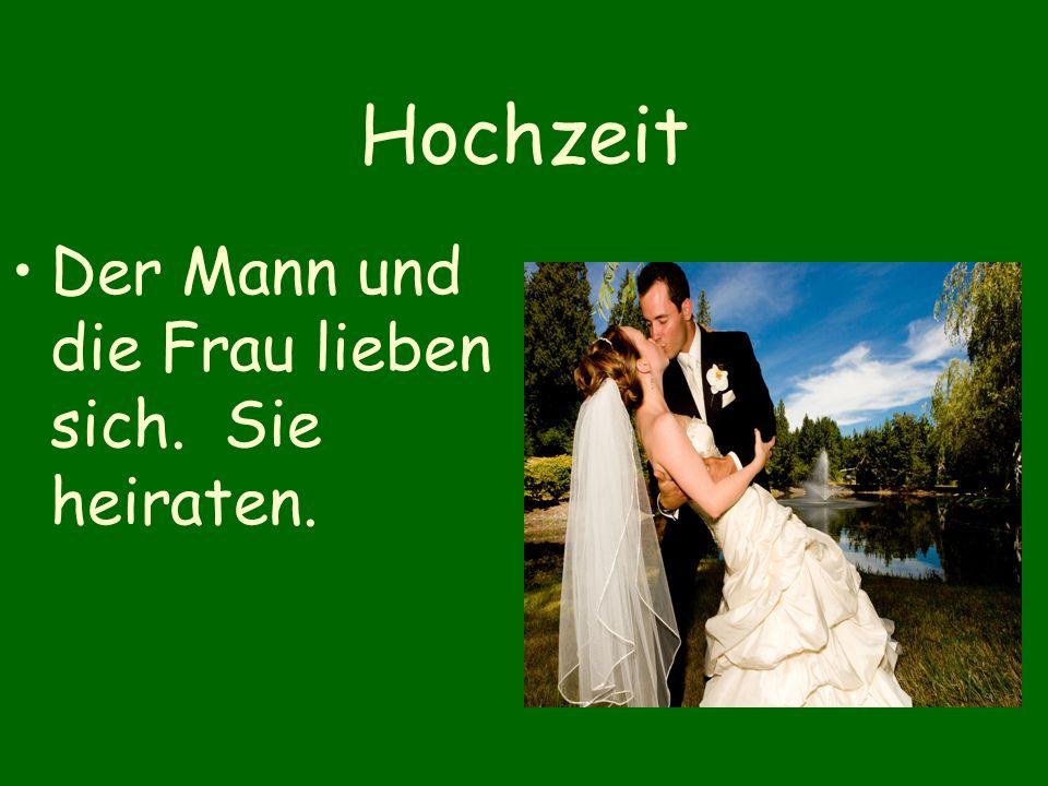 Hochzeit Der Mann und die Frau lieben sich. Sie heiraten.