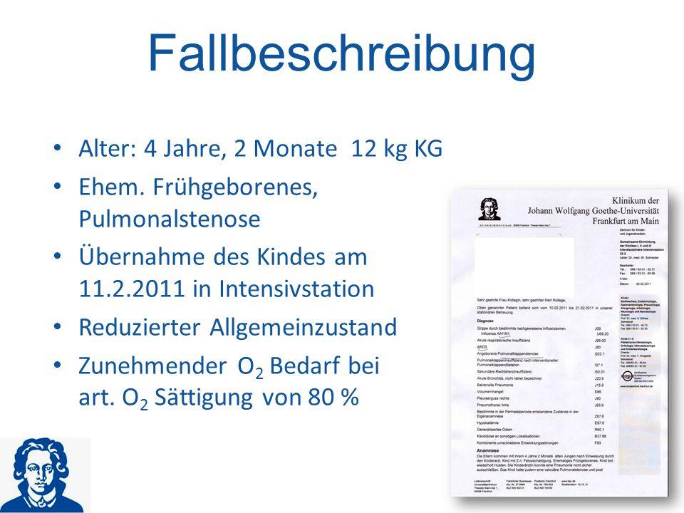 Influenza A/H1N1 ARDS Angeborene Pulmonalklappenstenose Generalisiertes Ödem Akute Bronchits Pleuraerguss …………….