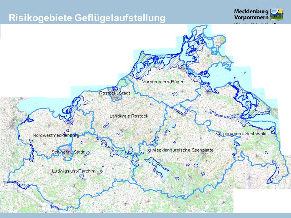 Risikogebiete Geflügelaufstallung Schwerin, 6. November 20149