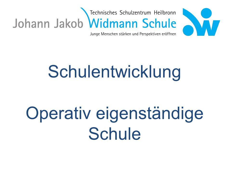 Schulentwicklung an der Johann-Jakob-Widmann-Schule 1.STEBS (1999 – 2007) = Stärkung der Eigenständigkeit Beruflicher Schulen 2.
