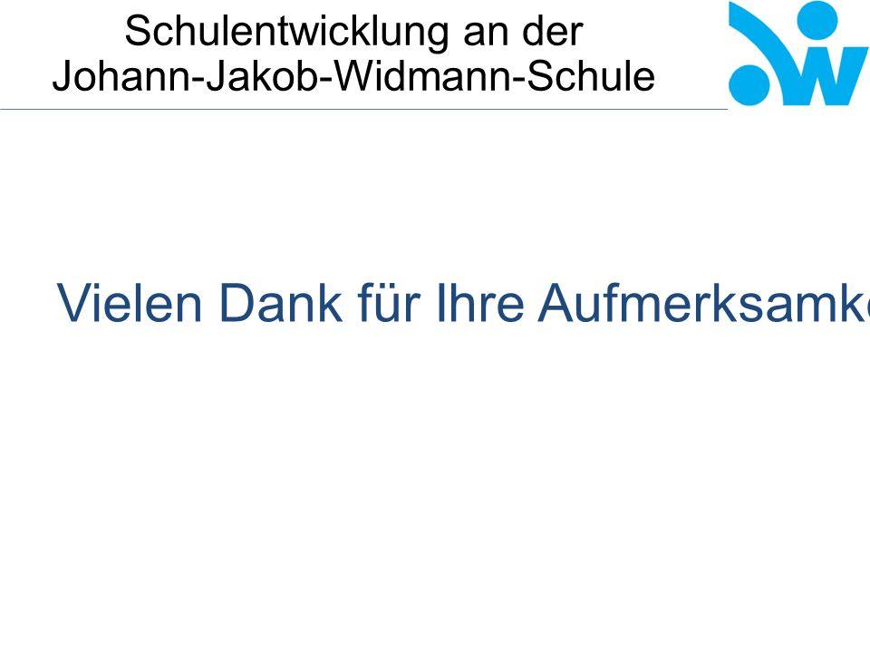 Schulentwicklung an der Johann-Jakob-Widmann-Schule Vielen Dank für Ihre Aufmerksamkeit.