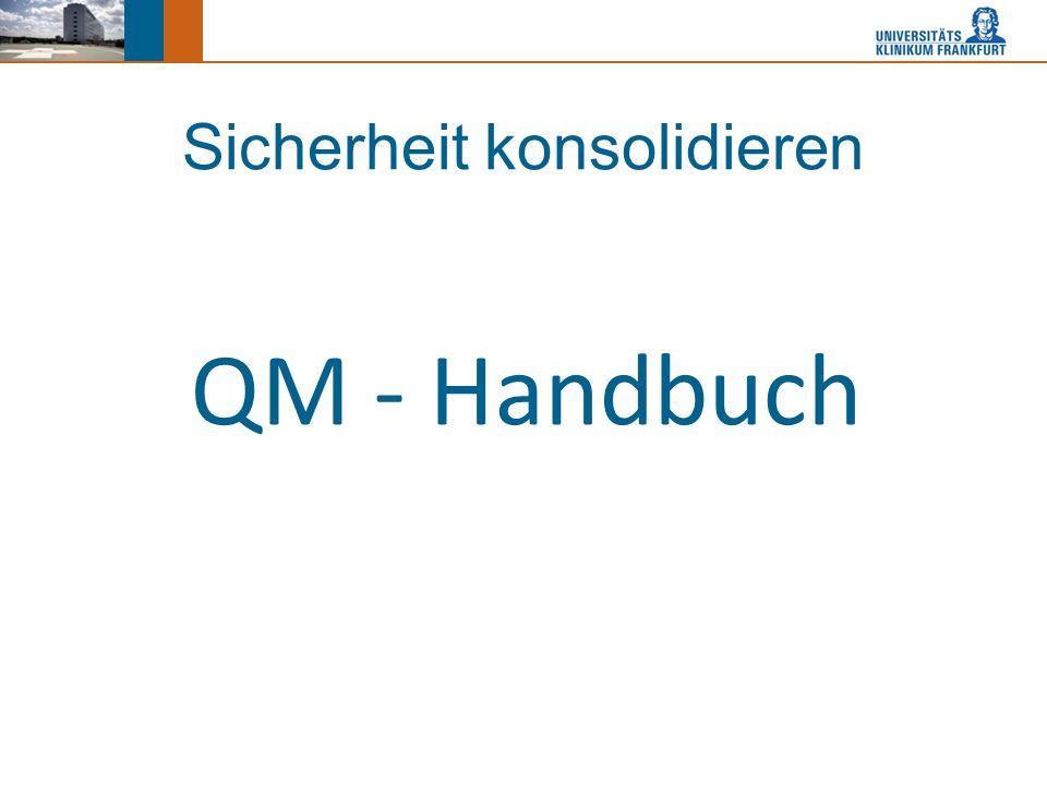 Sicherheit konsolidieren QM - Handbuch