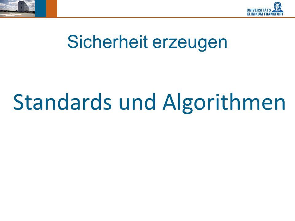 Sicherheit erzeugen Standards und Algorithmen
