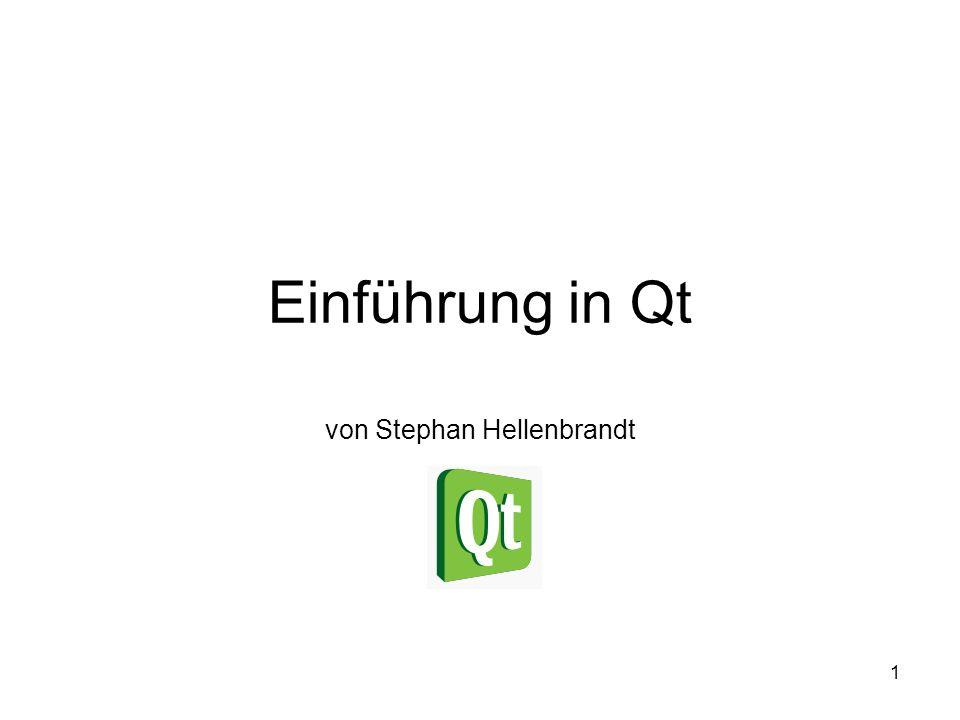1 Einführung in Qt von Stephan Hellenbrandt