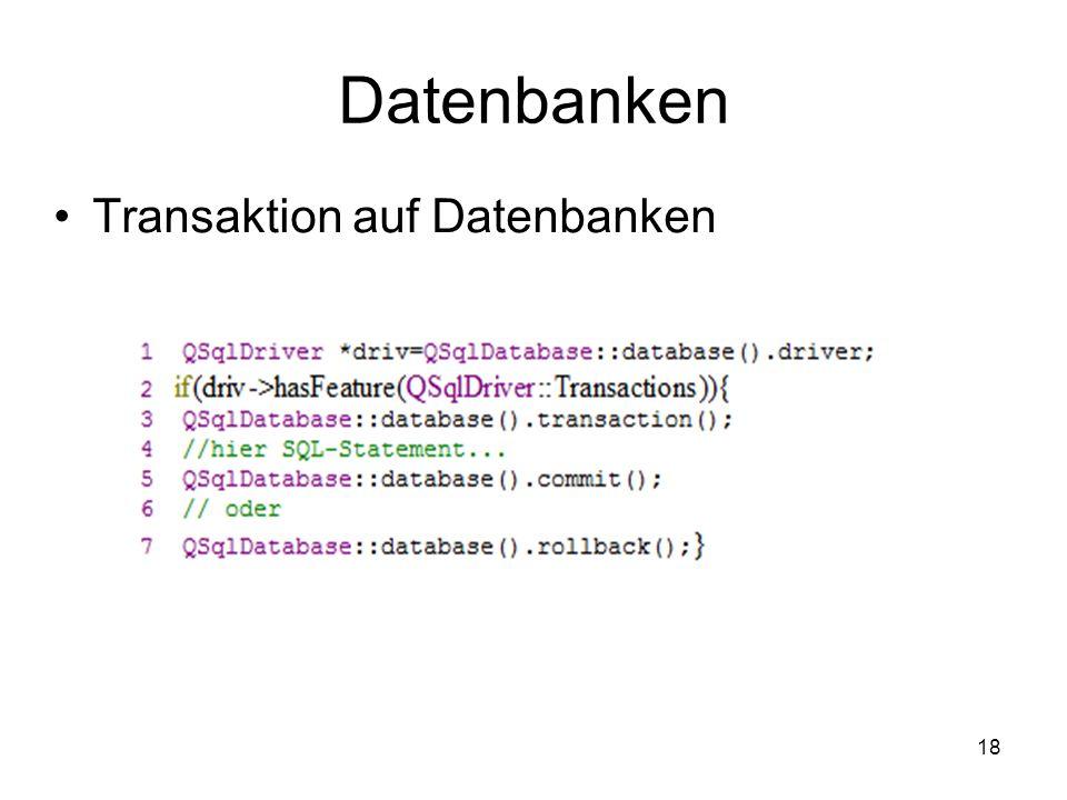18 Datenbanken Transaktion auf Datenbanken