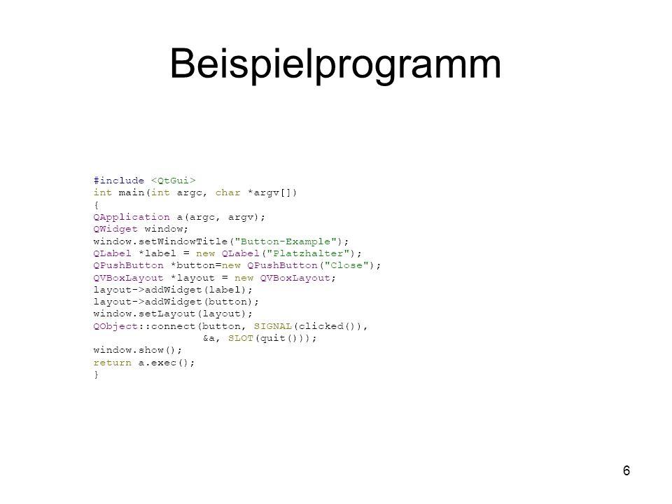 6 Beispielprogramm