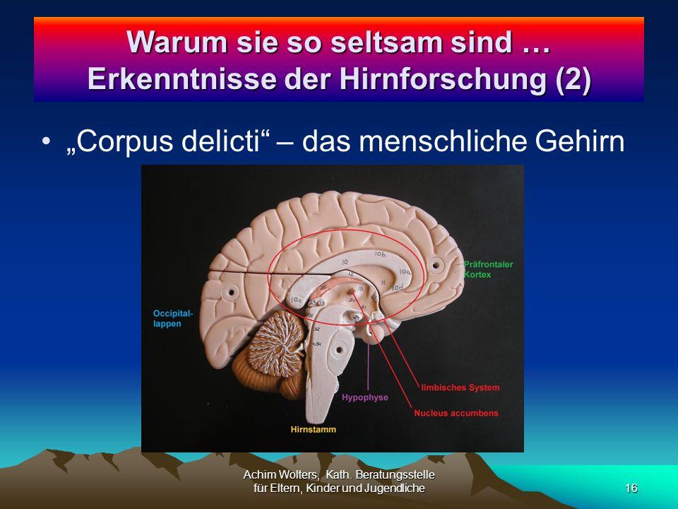 """""""Corpus delicti – das menschliche Gehirn Achim Wolters, Kath."""